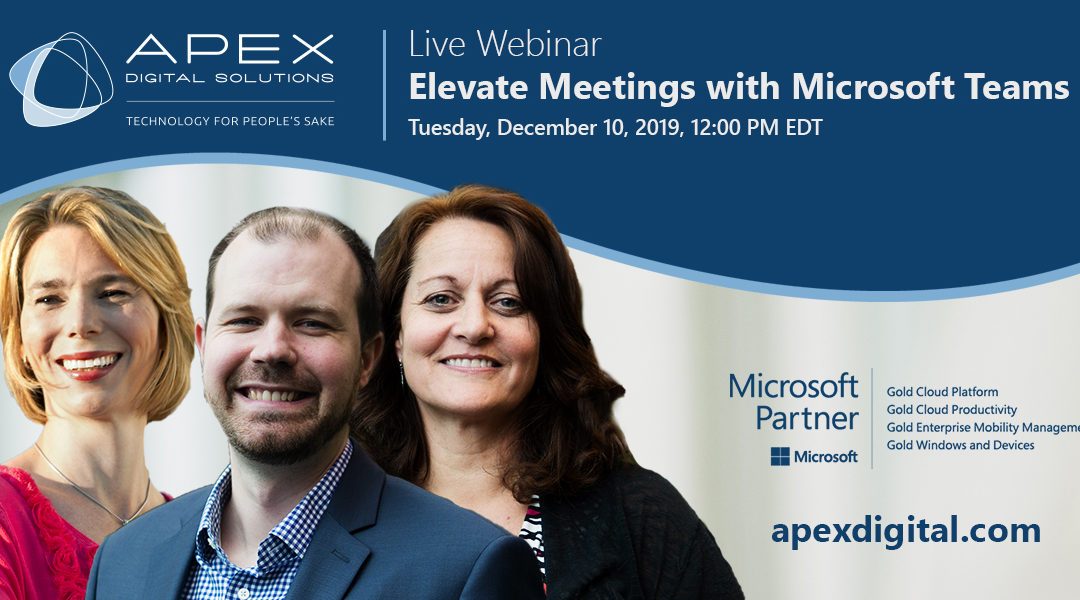 Webinar: Elevate Meetings with Microsoft Teams