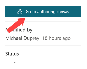 Power Virtual Agents go to authoring canvas