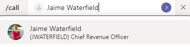 Microsoft Teams Calling Tips Call from Command Bar