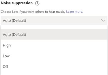 Microsoft Teams Calling Noise Suppression