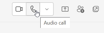 Microsoft Teams Calling from Chat Window